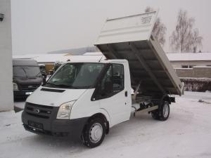 Ford Transit 350MWB 2,4TDCi 74kW/101PS valník sklápěč jednokabina Klimatizace Tupláky - Prodáno