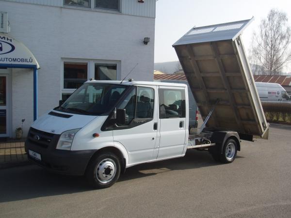 Ford Transit 350LWB EF 2,4TDCi 103kW/140PS valník sklápěč dvojkabina 6 míst Klima - Prodáno