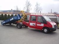 Nosič kontejnerů - natahovací zařízení pro vůz Ford Transit 350MWB 2,4 TDCi dvojkabina