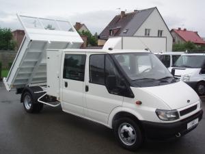 Ford Transit 350LWB 2,4TDi 66kW/90PS Valník Sklápěč Dvojkabina 6 Míst Tupláky - Prodáno