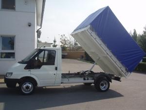 Ford Transit 350 M 2,4 TDi 75 PS valník jednostranný sklápěč jednokabina s plachtou - Prodáno