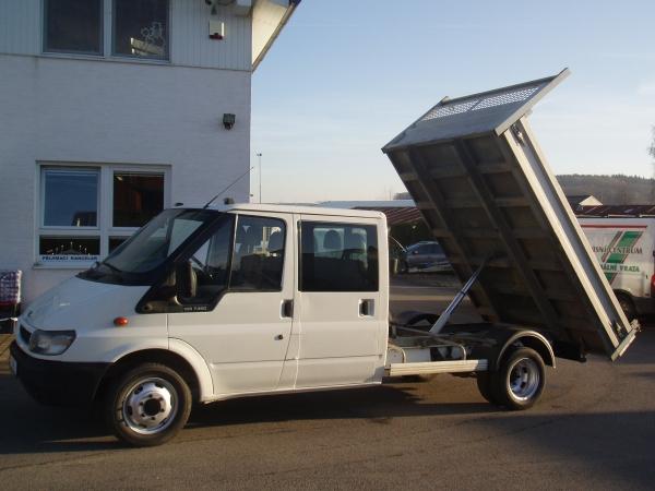 Ford Transit 350L 2,4 TDi 125PS valník3,2m dvojkabina jednostranný sklápěč 6 míst - Prodáno