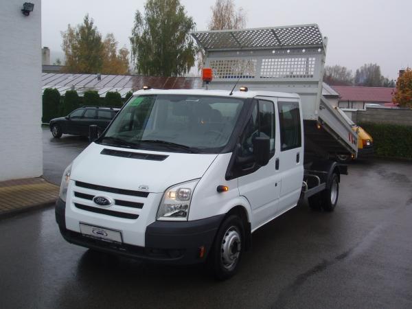 Ford Transit 350LWB EF 2,4TDCi 85kW/115PS valník sklápěč dvojkabina 6 míst Klima