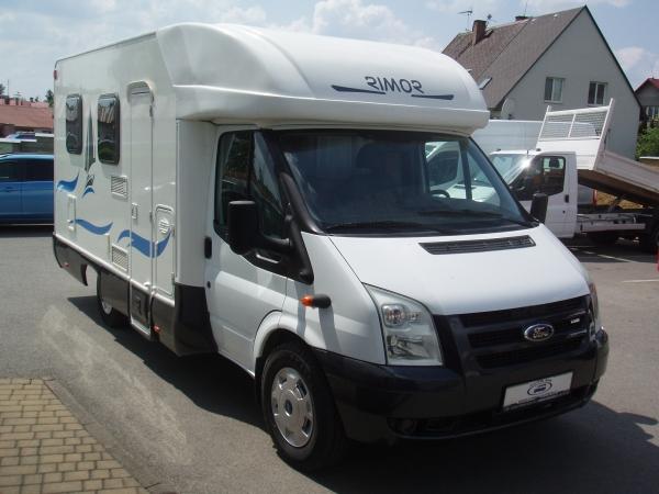 Obytný vůz - Ford Transit 350L - nástavba Rimor - 2,2TDCi 130PS - Přední a zadní Klima Tempomat Markýza - první registrace 07/2007