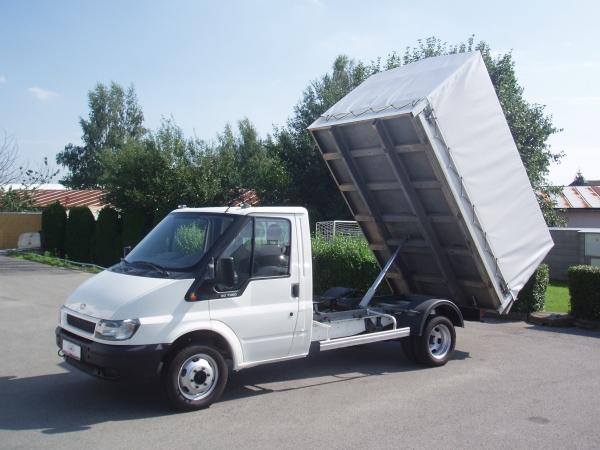 Nabídka speciálních vozů k pronájmu - sklápěč, valník, plachta, bedna, minibus