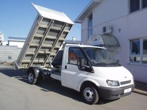 Ford Transit 350MWB 2,4TDi 92kW/125PS valník sklápěč jednokabina 3,2m Tažné zařízení - Prodáno