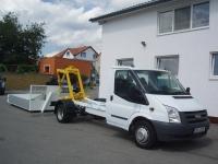 Ford Transit 350LWB EF valník s kontejnerovou nástavbou, 2,4TDCi 115PS Klima - Prodáno