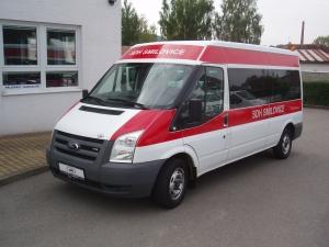 Ford Transit 300L 2,2TDCi 81kW/110PS L3H2 vůz pro hasiče Klimatizace minibus 9 míst - první registrace 11.11.2008
